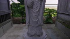 Japanese Buddha statue. Stock Footage
