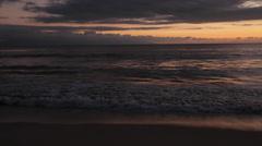 Beach at Sunset, Nuevo Vallarta, Nayarit, Puerto Vallarta, Mexico, North America Stock Footage
