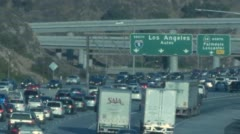 Rush Hour Traffic on 5 Freeway Stock Footage