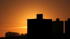 Sunrise city view. Sun rise, sunset, gold sun. - stock footage