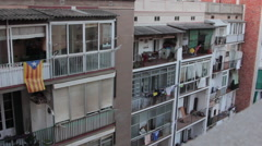 Apartments in Eixample, Barcelona. - stock footage