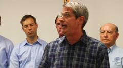 Louisiana Senator David Vitter (R) on floods. - stock footage