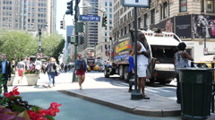 4K New York City street scene. Stock Footage