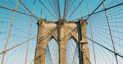 The Brooklyn bridge, New York City. USA 2015 Stock Footage