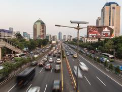 Jakarta rush - stock photo