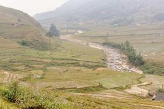 Littel cascade in Tavan Village Sapa. - stock photo