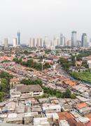 Jakarta skyline Stock Photos