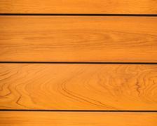 Texture the wall of teak wood. Stock Photos
