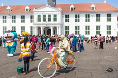 Fatahillah square in Jakarta Stock Photos