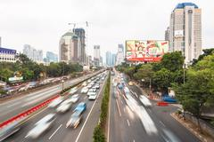 Jakarta traffic Stock Photos