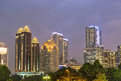 Jakarta twilight - stock photo