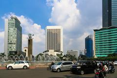 Jakarta Plaza Indonesia Stock Photos