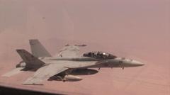 Fighter jet in flight. Stock Footage