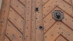 Old Door in Castle District, Prague, Czech Republic, Europe - stock footage