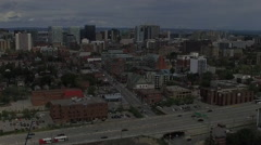 Aerial of Ottawa's Downtown - north facing Stock Footage