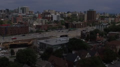 Ottawa Aerial showing the Queensway Highway 417 Stock Footage
