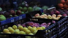 Close up, fresh produce. Stock Footage