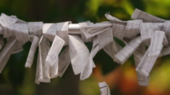 Buddhist prayer papers. Stock Footage