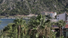 View of resort, Iclemer, Marmaris, Anatolia, Turkey - stock footage