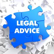 Legal Advice on Blue Puzzle - stock illustration