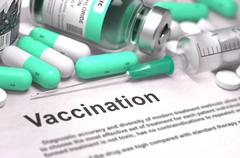 Vaccination - Medical Concept with Blurred Background - stock illustration