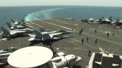 USS Dwight. D. Eisenhower Aircraft Carrier. Stock Footage
