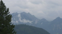 View of the Alps and the forest near Neuschwanstein Castle Stock Footage