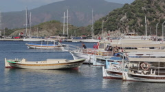 Harbour Boats, Iclemer, Marmaris, Anatolia, Turkey - stock footage