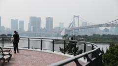 Rainbow Bridge Tokyo. Stock Footage