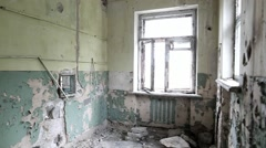 Interior of old abandoned house Stock Footage