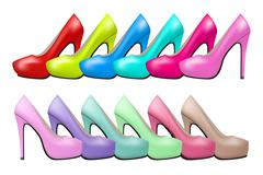 Stock Illustration of Background of high heels woman shoes