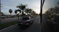 Coach Journey to Nuevo Vallarta, Nayarit, Puerto Vallarta, Mexico, North America Stock Footage
