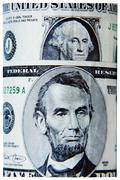dollar bills closeup - stock photo