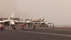 EA-6B Prowler takeoff. Stock Footage