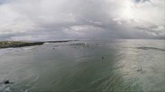 Bodyboarder at Newport Beach. Stock Footage