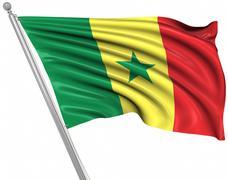 Flag of Senegal - stock illustration