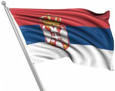 Flag of Serbia - stock illustration