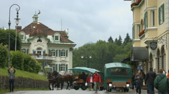 Street between Schlosshotel Lisl and Muller Hotel, near Neuschwanstein Castle Stock Footage