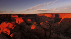 Stock Video Footage of 4K Canyon De Chelly 21 Time Lapse Sunset Clouds