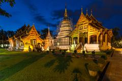 Wat Phra Singh temple in Chiang Mai, Thailand. Stock Photos
