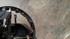 POV in FA-18 Super Hornet. Stock Footage