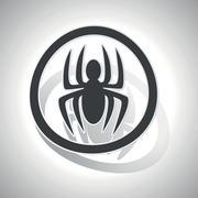 Stock Illustration of Spider sign sticker, curved