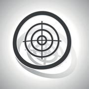 Aiming mark sign sticker, curved Stock Illustration