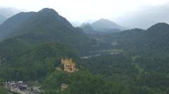 Beautiful view of Hohenschwangau Castle, near Neuschwanstein Castle Stock Footage