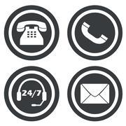Communication signs small set Stock Illustration