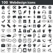100 webdesign icons set Stock Illustration
