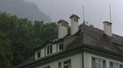 The attic of Muller Hotel, Neuschwanstein Castle Stock Footage