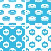 CD stack patterns set Stock Illustration