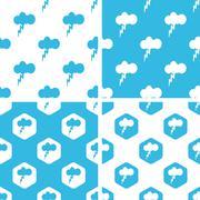 Thunderbolt patterns set Stock Illustration