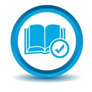 Stock Illustration of Select book icon, blue, 3D